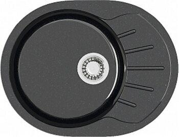 Мойка овал (585х455х215) Тейлор Z10Q4 (черный)