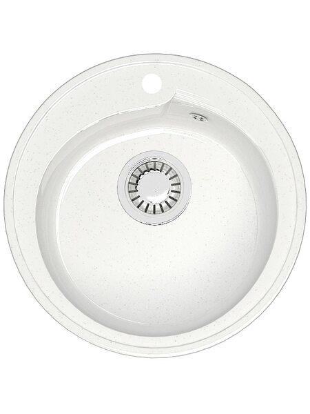 Мойка круглая (435х200) Венди Z4Q1 ( белый лед)