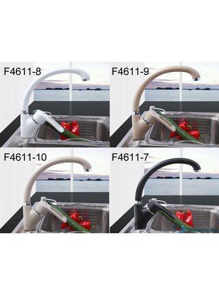 F4166-7 Смеситель для кухни, черный