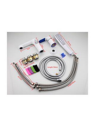 F1134 Смеситель для ванны врезной, тройка, белый/ хром