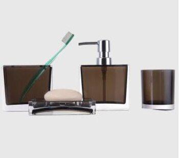F302-2 набор аксессуаров для ванной комнаты. коричневый