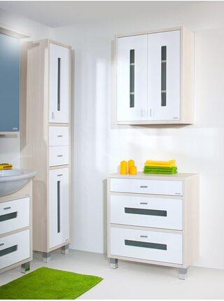 Шкаф навесной БАЛИ 60 светлая/белый глянец