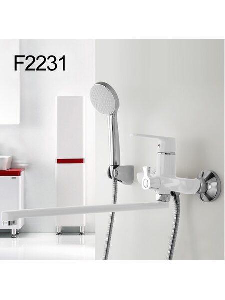 F2231 Смеситель для ванны, белый/хром